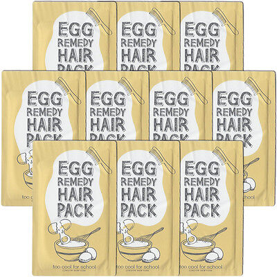 [Too Cool for School] Egg Remedy Hair Pack Samples 10pcs - Korea Cosmetics