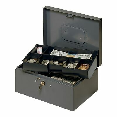 Steelmaster 7-compartment Cash Box With Safety Latch 4 38 X 10 14 X 7 14
