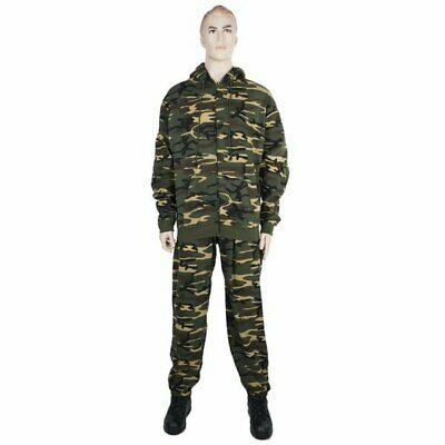 Woodland Camo Fitness Suit. Track Jacket and Pants. Free Shipping!  for sale  Shipping to India