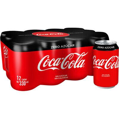 COCA COLA ZERO LATA P-12 330ml - Coca Cola