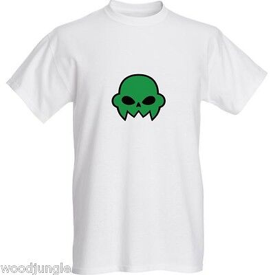 JAKE ENGLISH HOMESTUCK GREEN SKULL  LOGO   T-SHIRT SHIRT TEE  COSPLAY
