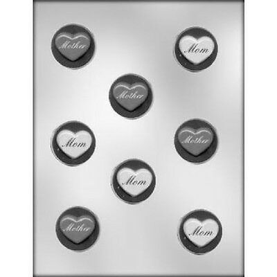 Mother Mom Heart Mint Chocolate Candy Mold CK #13712 - - Heart Mint Candy Mold