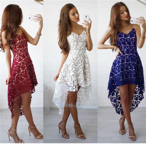 Dress - Women Summer Sleeveless Evening Party Cocktail Short Mini Lace Dress US shipping