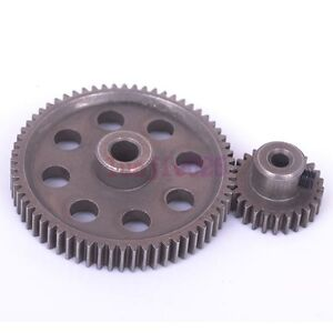 HSP RC 1:10 11184 & 11176 Steel Metal Differential Main Gear 64T &Motor Gear 26T
