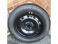 """15"""" full size spare wheel and Dunlop tyre ***5x100***"""
