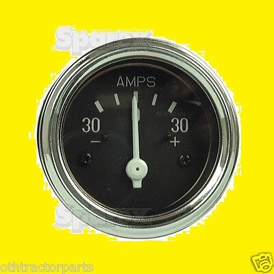 Massey Ferguson Harris 30 Amp Ammeter Gauge Chrome Bezel 515521m91 To20-30-35
