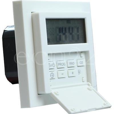 Zeitschaltuhr Unterputz mit Wochenprogramm 1800W inklusive Aufputzdose
