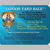 Wharf City Rollers Indoor Yard Sale
