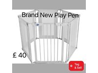 Brand New Metal and fabric Playpen