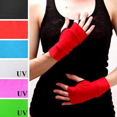 Short Red Costume Gloves Harley Quinn Outfit Nylon Spandex Comic Super Hero M23](Harley Quinn Spandex Costume)