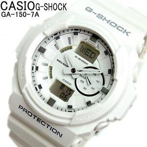 CASIO-G-SHOCK-GA150-7A-GA-150-7A-ANALOG-DIGITAL-MAGNETIC-RESIST-MATTE-WHITE