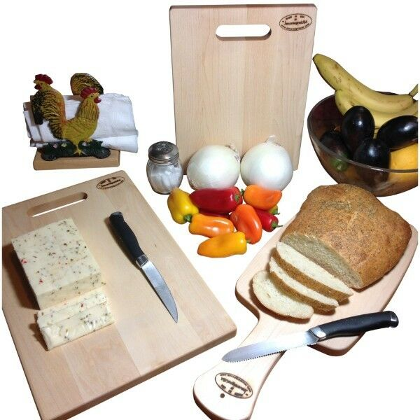 Maple Cutting Board Hard Wood Reversible Bread Paddle Cheese