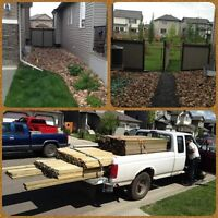 Opening for decks and fences
