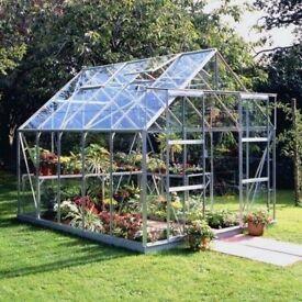 ALUMINIUM GREENHOUSES & STEEL STORAGE BOXES SHEDS, SUIT GARDENS GARDENER PLANTS TOOLS GROWING SEASON