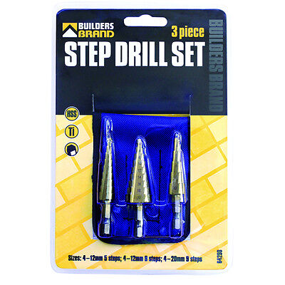 - Steep Drill Set 3 Piece Or Single (Builders Brand)