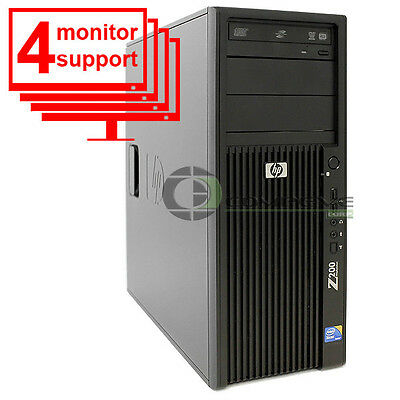 Hp Z200 Forex Trading Desktop Intel Xeon X3440 4Gb 250Gb Up To 4 Monitor Support
