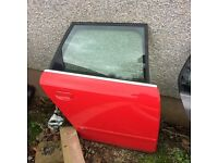 Audi A4 b7 s line drivers rear door in red £50 same as seat exeo