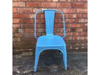 Tolix style metal chairs