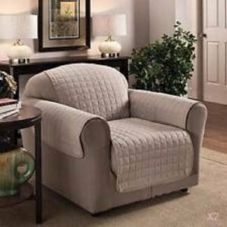 Beige Arm Chair Covers   AS NEW