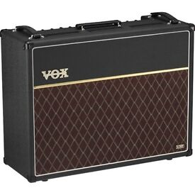 Vox AC30vr combo, c/w padded Hot Cover and Vox footswitch all as new.