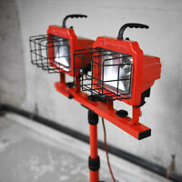 Commercial Electric Construction Site Lighting on T-Bar Tripod