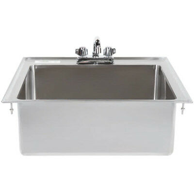One Compartment W Faucet 20 X 16 X 8 Stainless Steel Drop In Sink Commercial