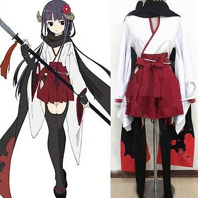 NEW Shirakiin Ririchiyo Cosplay Costume Muffler White&Red  Full Set - Ririchiyo Shirakiin Kostüm