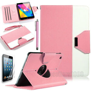 Pink PU Leather 360 Rotating Case Cover for Ipad Mini 1 2 3 New