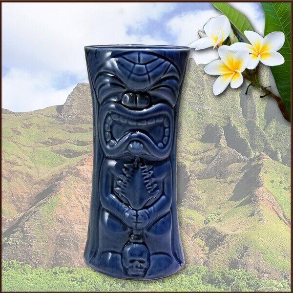 Ku-Kaili-Moku Small Sapphire Blue Tiki Mug designed by Thor & Tiki farm