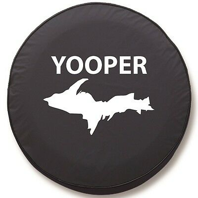 (Yooper State Spare Tire Cover on Black Vinyl)