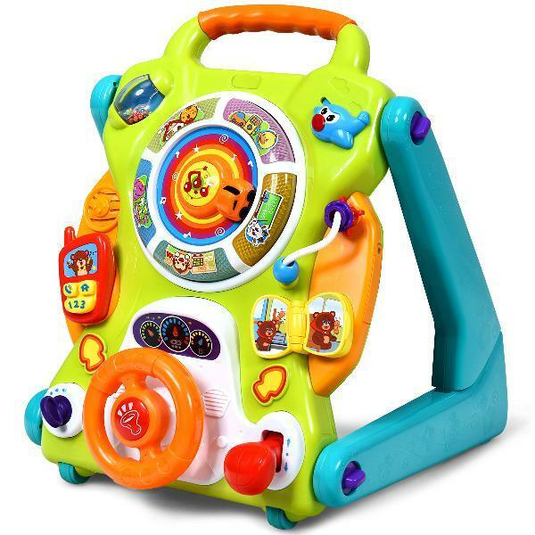 Costway 3 in 1 Sit to Stand Children Learning Walker Kids Baby Activity Center