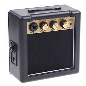 Mini PG-3 3W Electric Guitar Amp Amplifier Speaker Volume Tone Control UK