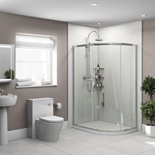 White Gloss Pvc Wet Wall Panels Wetwall Cladding Bathroom