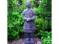 LARGE CHINESE HAND MADE REPLICA STATUE OF EMPERORS ARMY WARRIOR SOLDIER GARDEN HOME OFFICE AS NEW