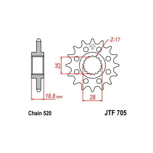 Sprocket R Steel P520 D16 Sunstar Aprilia 1000 RSV 4 RF