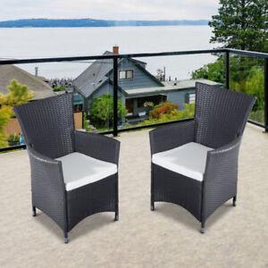 Ensemble de 2 chaises de Jardin Rotin