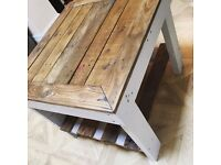 Pallet coffee table upcycled reclaimed shabby chic vintage rustic
