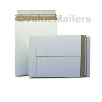 100 - 9.75x12.25 C White Rigid Photo Mailers Self Seal Stay Flat Stayflats .028