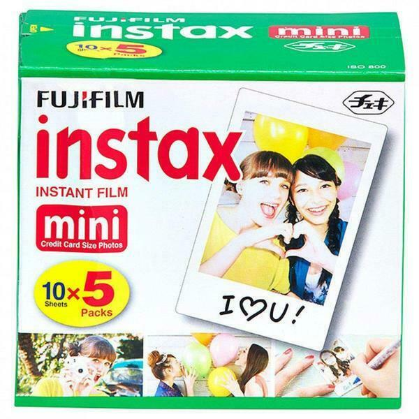50 Prints Fujifilm Instax Mini Instant Film for 8-9 and all