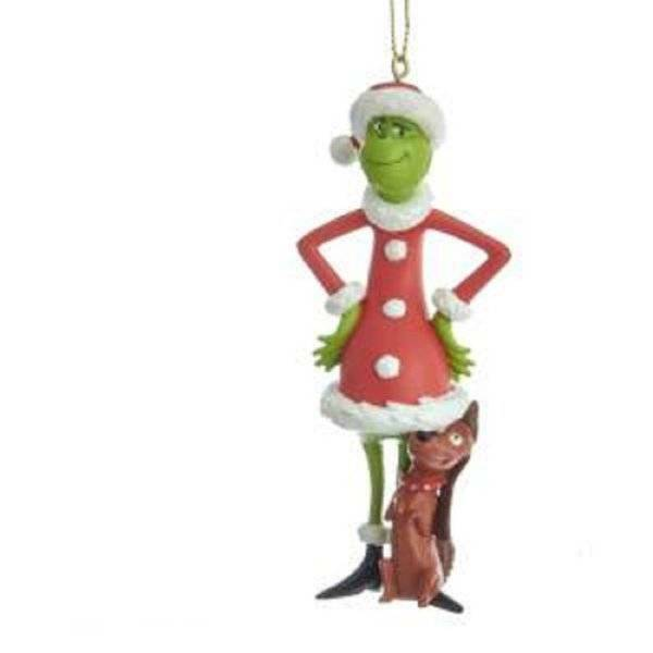 Kurt Adler Christmas Ornament The Grinch Standing With His Faithful Dog Max NEW