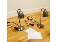 John Lewis pewter touch bedside or desk lamp