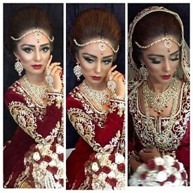 BRIDAL & PARTY hair and makeup artist. Asian bridal make up and hairstylist specialist.