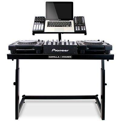 Gorilla DS-1 DJ Deck Stand CDJ Turntable Mixer Laptop DJ Equipment Workstation