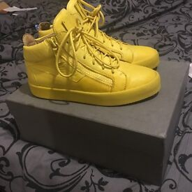 Designer yellow Giuseppe Zanotti sneakers for men