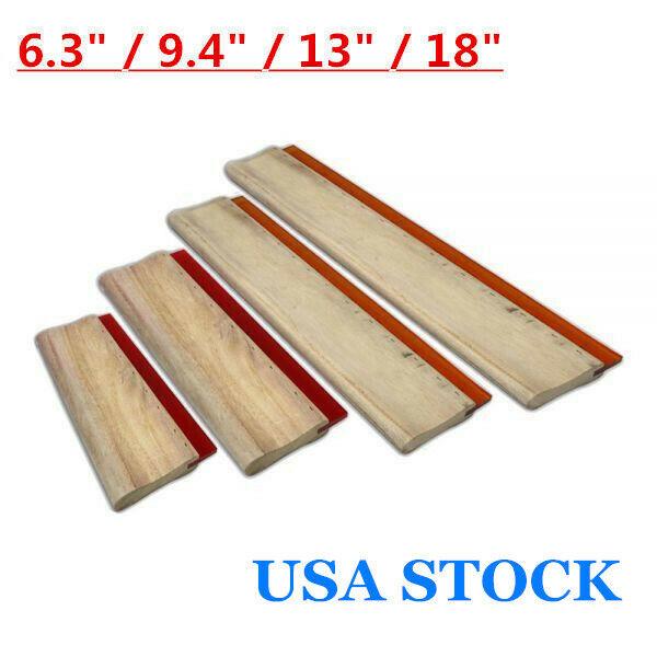 USA 4 pcs Silk Screen Printing Squeegee Ink Scraper Scratch Board 75 Durometer