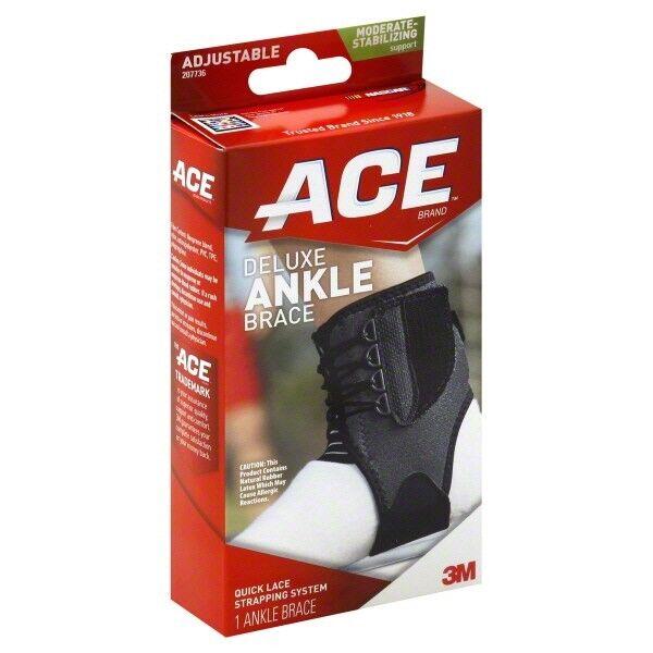 ACE Ankle Brace, Deluxe, Adjustable, Moderate-Stabilizing Su