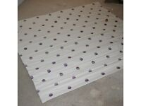 QUALITY HEAVY FABRIC ROMAN BLIND - LINED