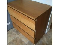 Oak IKEA malm bedroom furniture £65