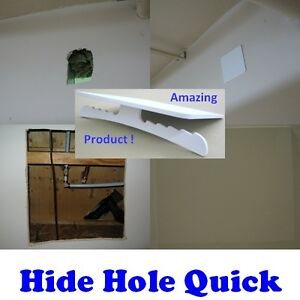 Drywall Repair Plate To Hide Hole In Sheetrock Wall And