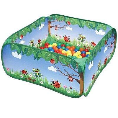 Kinder Bällebad mit 50 Bällen - Marienkäfer - Outdoor Active  Spielzeug NEU ()